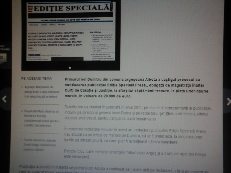 Articol compus de tiganul Mihai Bcalu pentru 1000 de euro