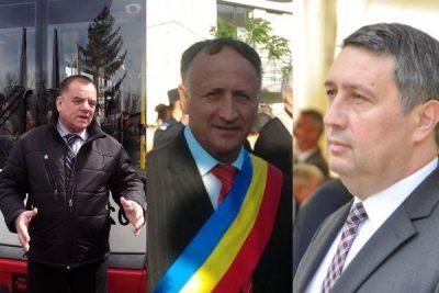 Tudor Pendiuc (mijloc) şi Cornel Ionică (stânga), escroci mondiali, blocuri vândute, sute, şpăgi foarte mari, împroprietăriri fictivi la greu, furt bugetul anual, patrimoniul primăriei ras